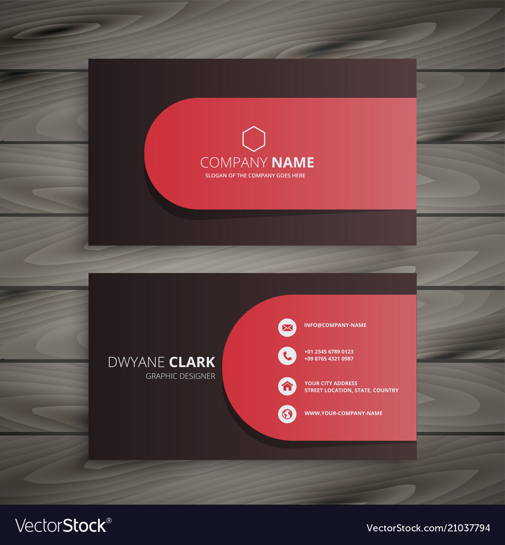 Clean professional business card design Royalty Free Vector