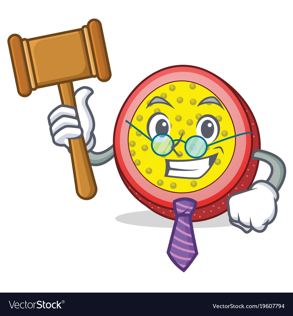 Judge passion fruit mascot cartoon vector image