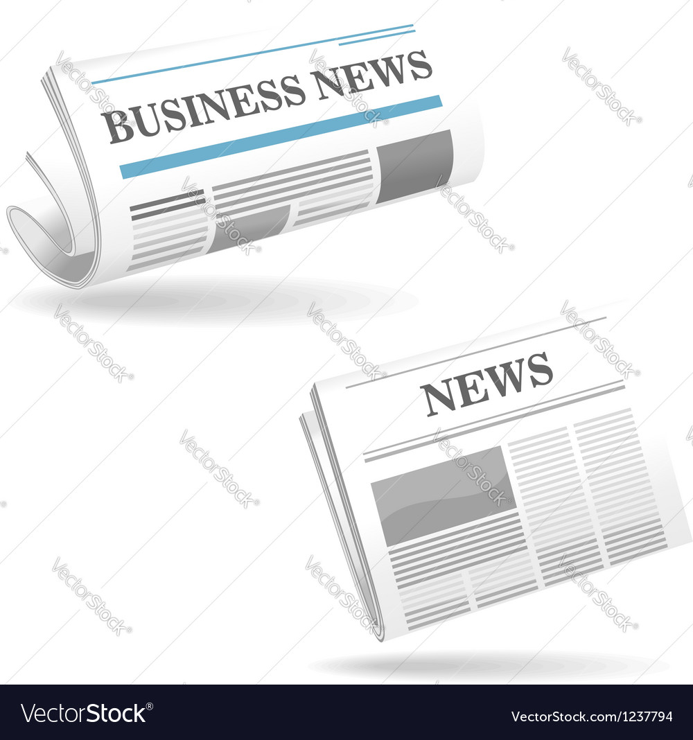 Realistic newspaper icons vector image
