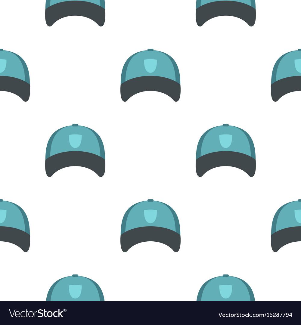 Winter hat pattern flat vector image