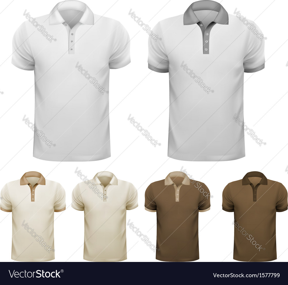 Black And White Men T Shirts Design Template Vector Image