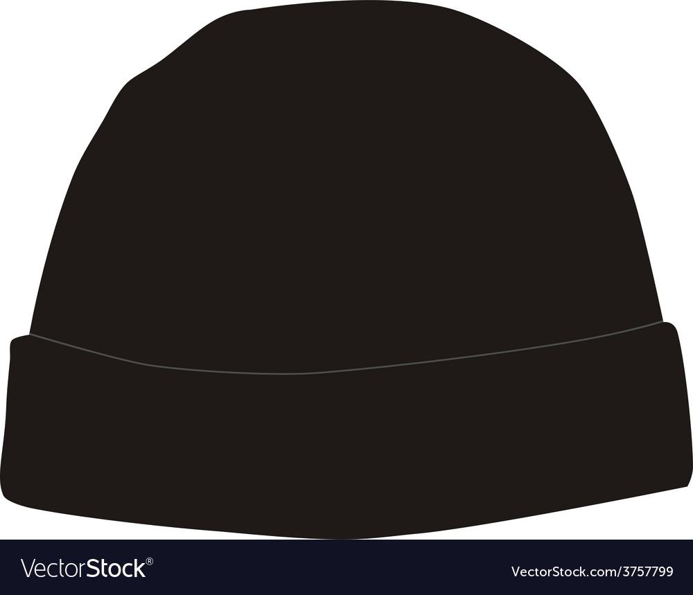Black winter hat Royalty Free Vector Image - VectorStock e824f196e8f