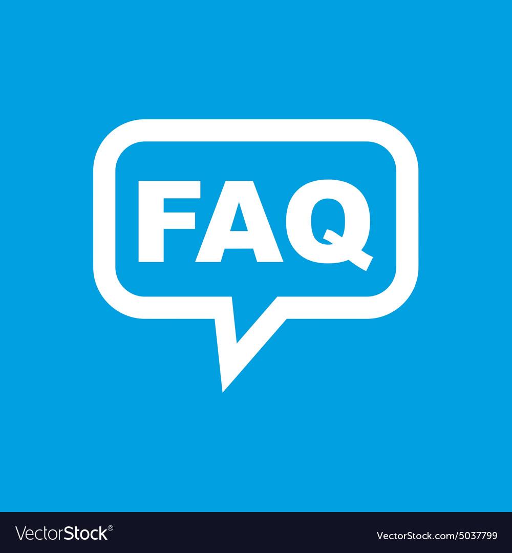FAQ message icon