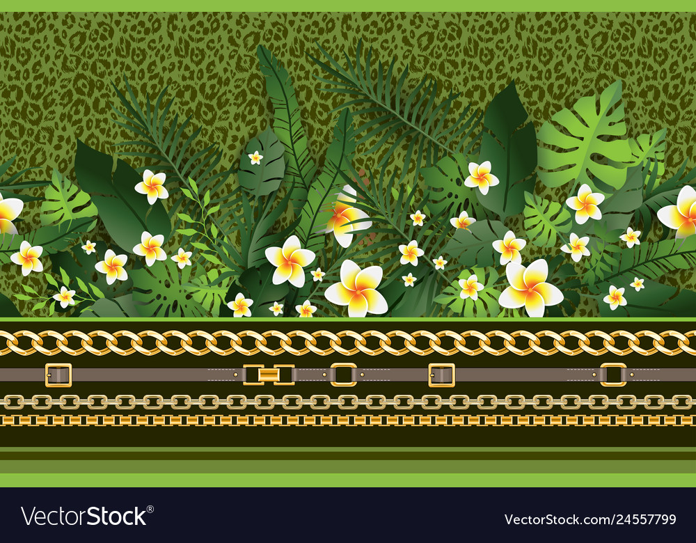 Green trendy border