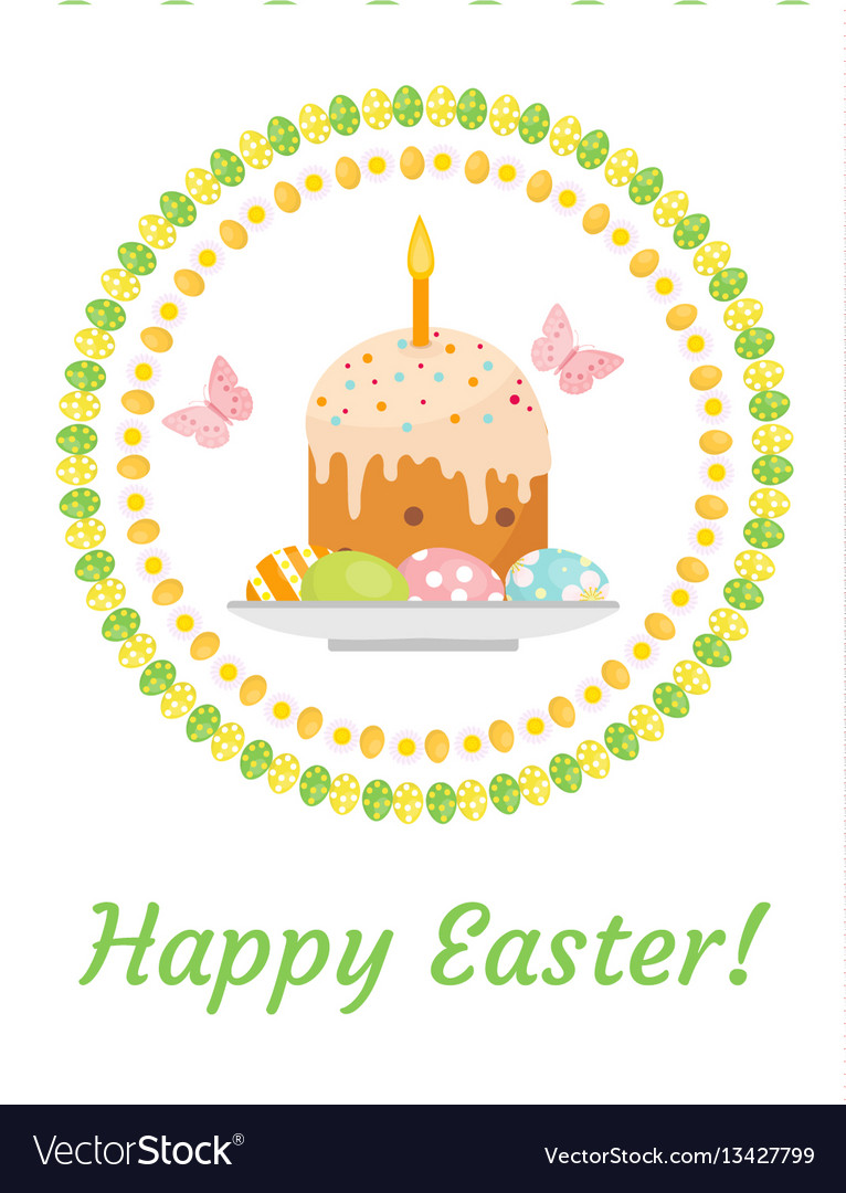 Happy easter greeting card flyer poster with