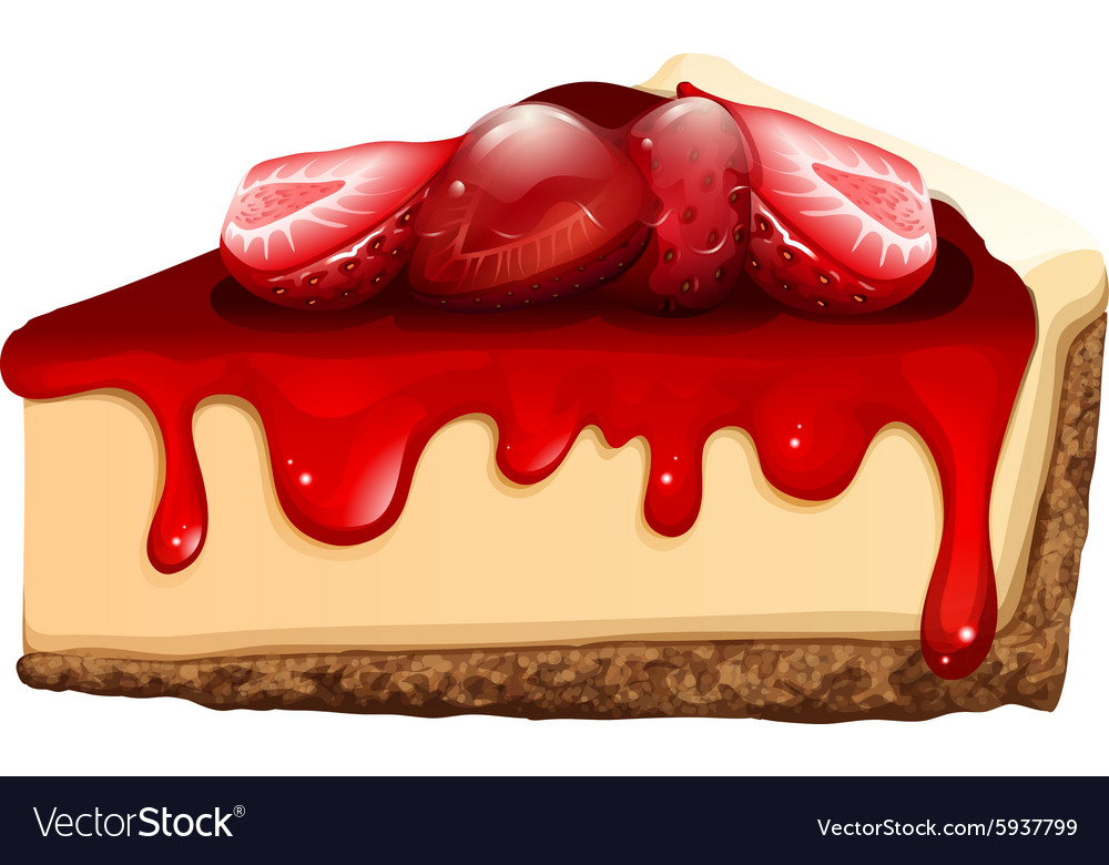 Strawberry cheesecake with jam