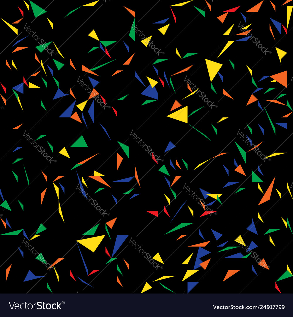 Triangles abstract confetti pattern