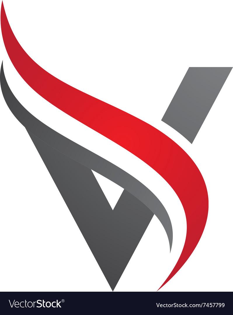 v letter logo template royalty free vector image