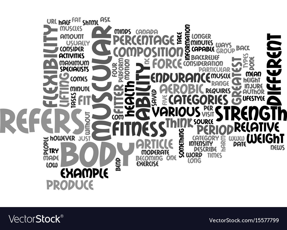 What does it mean to be fit text word cloud vector image
