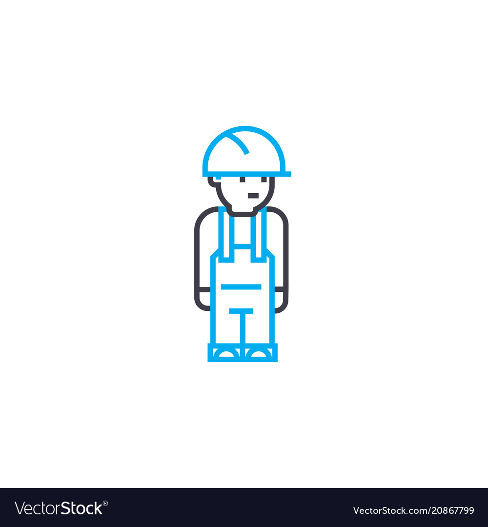 Working clothes thin line stroke icon