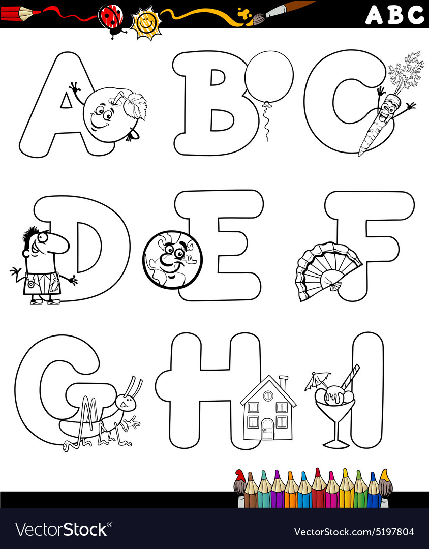 Alphabet for coloring book