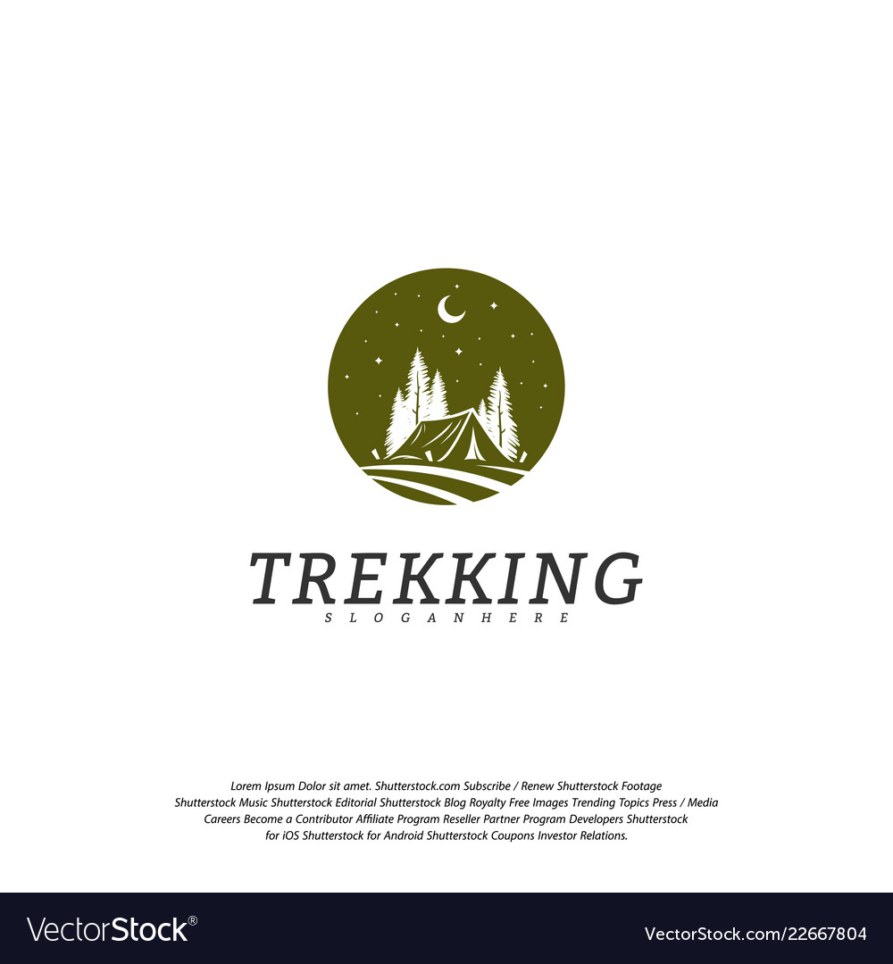 Camping logo template outdoor activity symbol logo