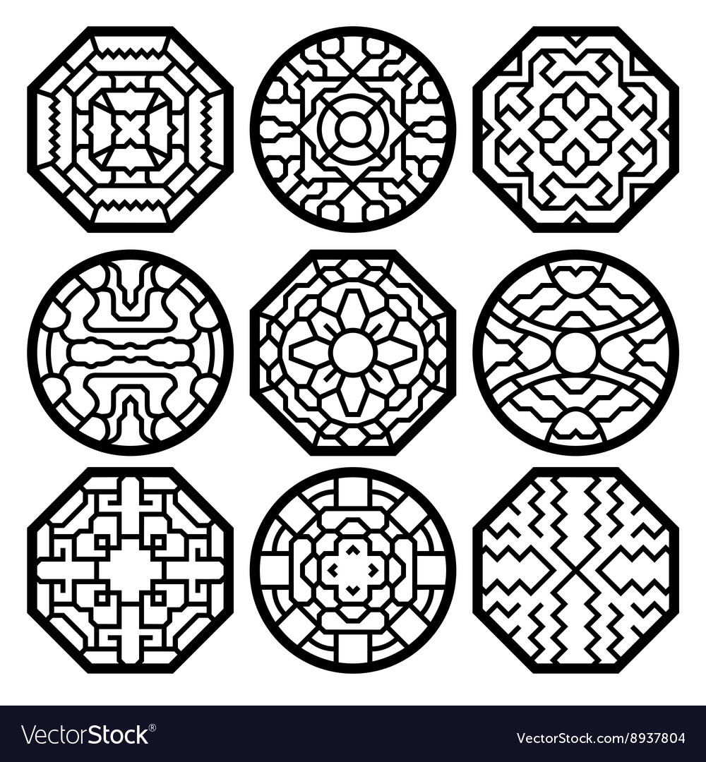 Chinese korean traditional pattern