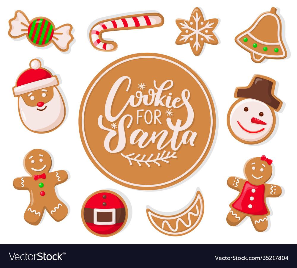 Cookie for santa claus candy lollipop stripes