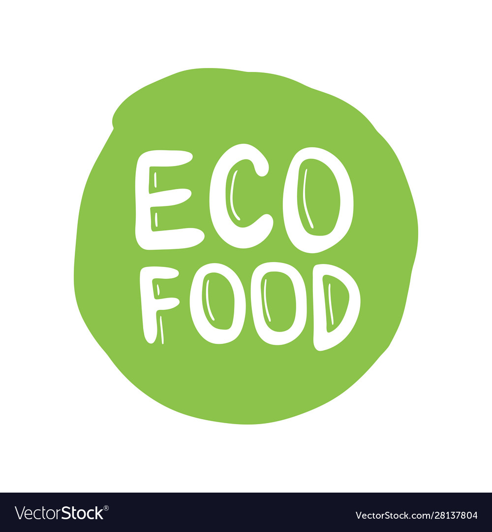 Eco friendly label round emblem painted icon for