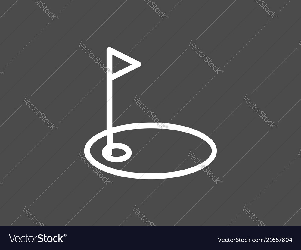 Golf icon sign symbol