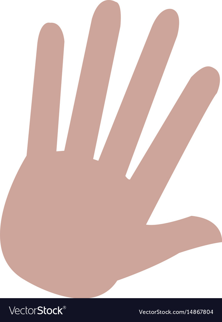 Hand palm human symbol style vector image