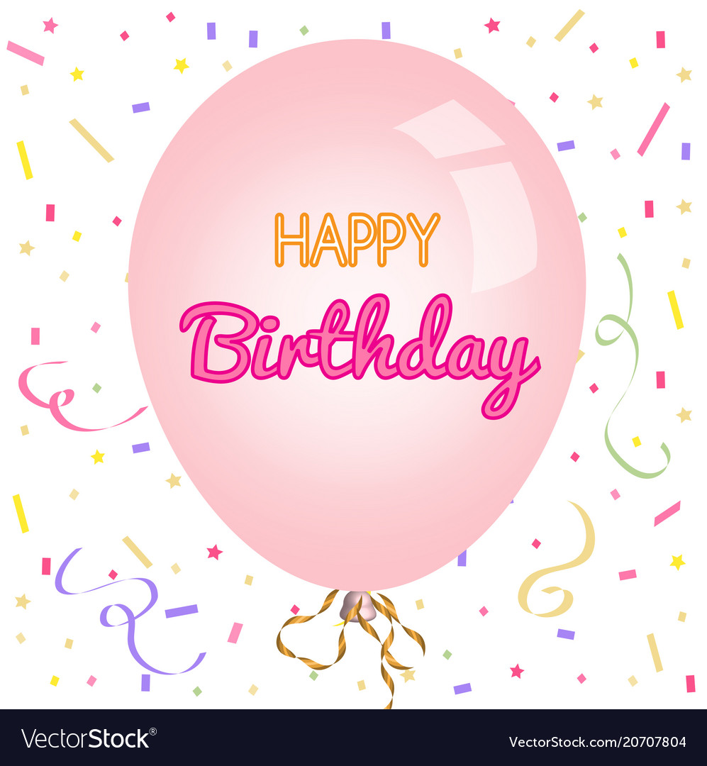 Happy birthday greeting card and party invitation