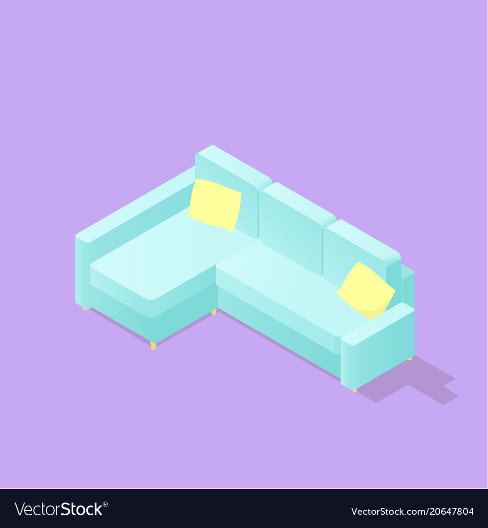 Low poly isometric sofa