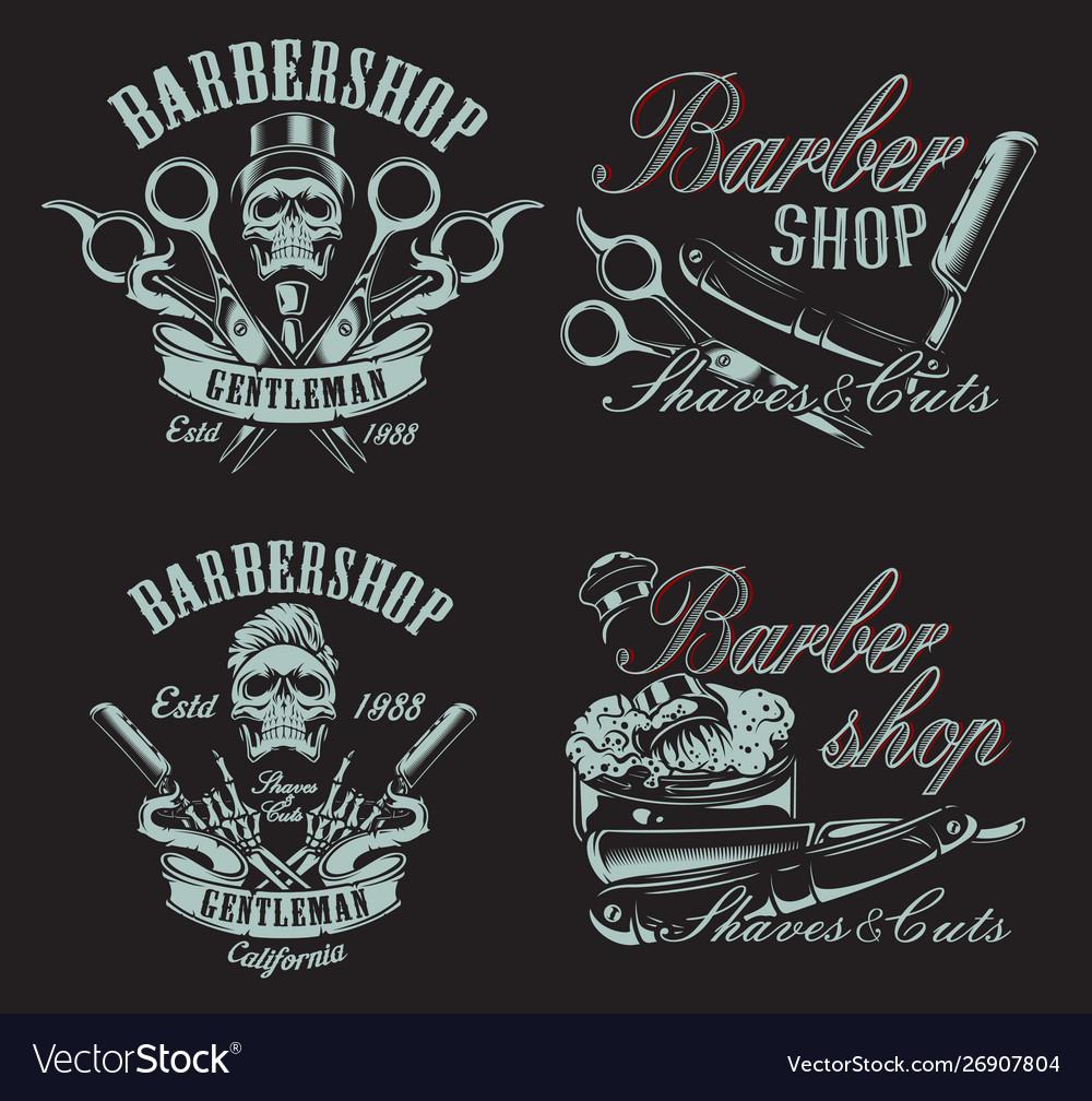 Set in vintage style for barbershop