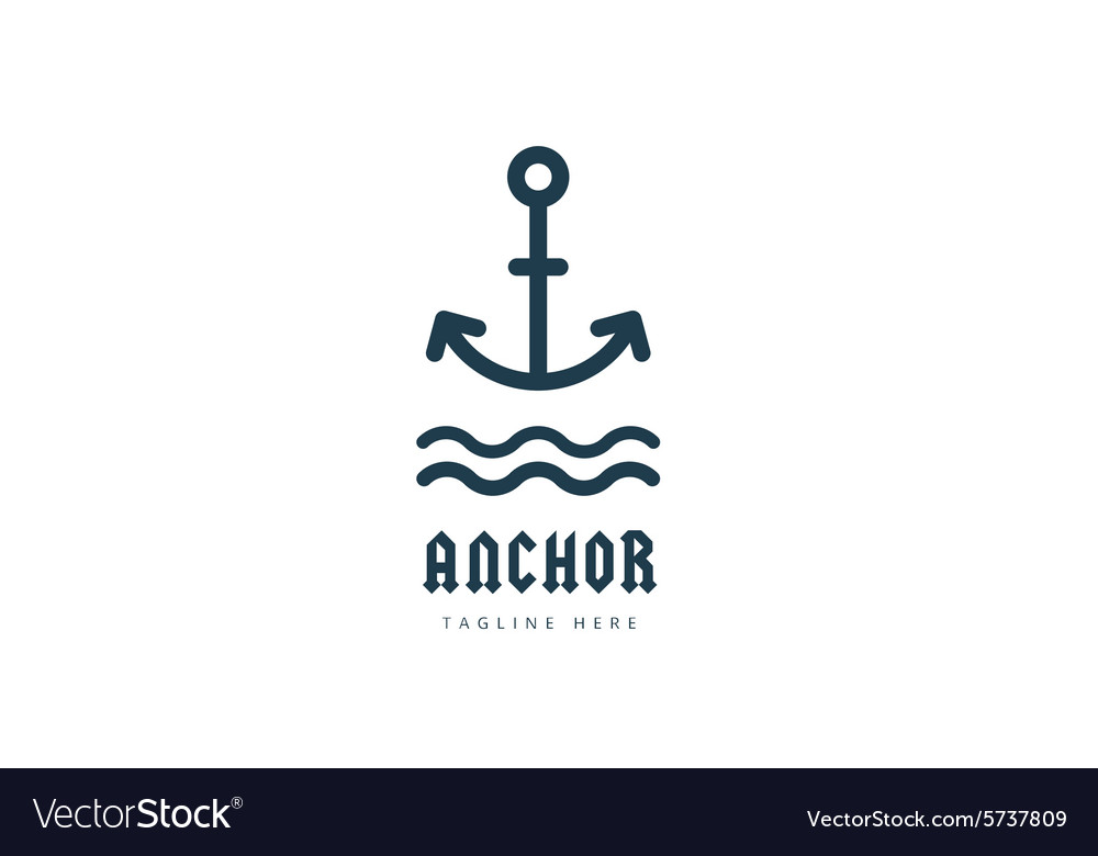 Anchor logo icon sea vintage or sailor royalty free vector anchor logo icon sea vintage or sailor vector image thecheapjerseys Images