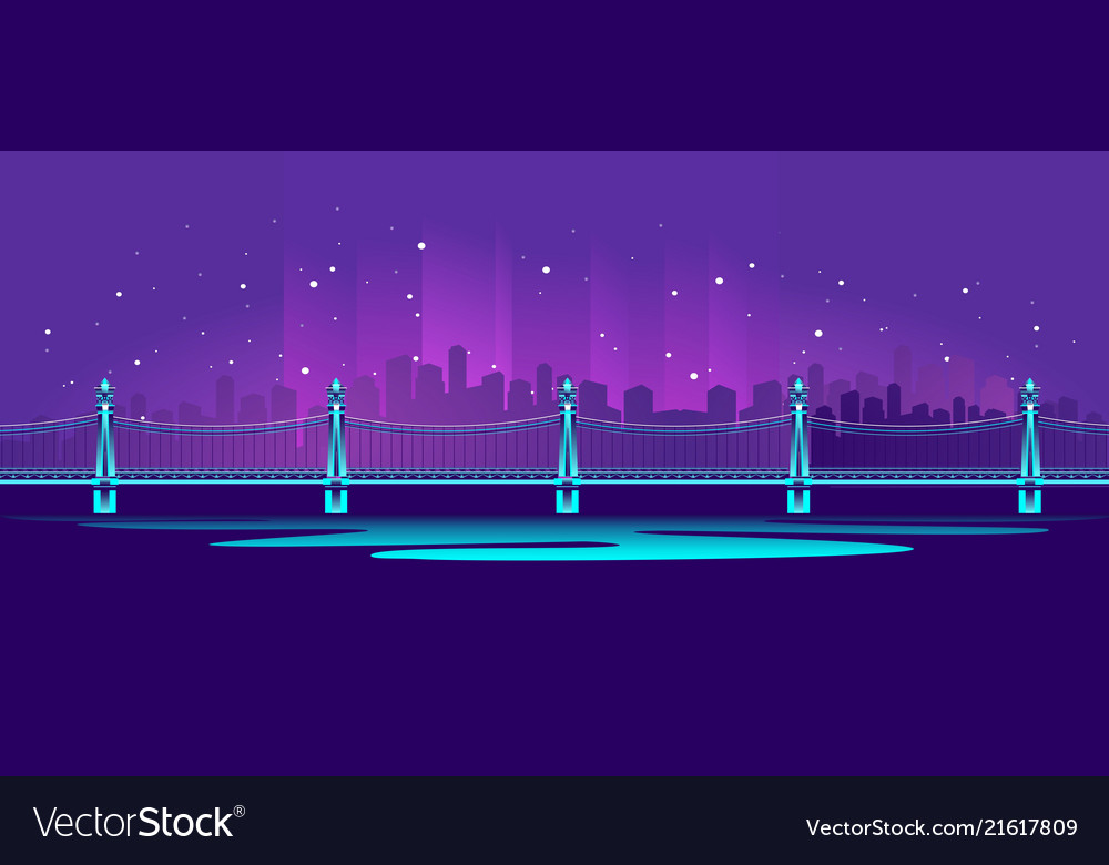 Big neon bridge