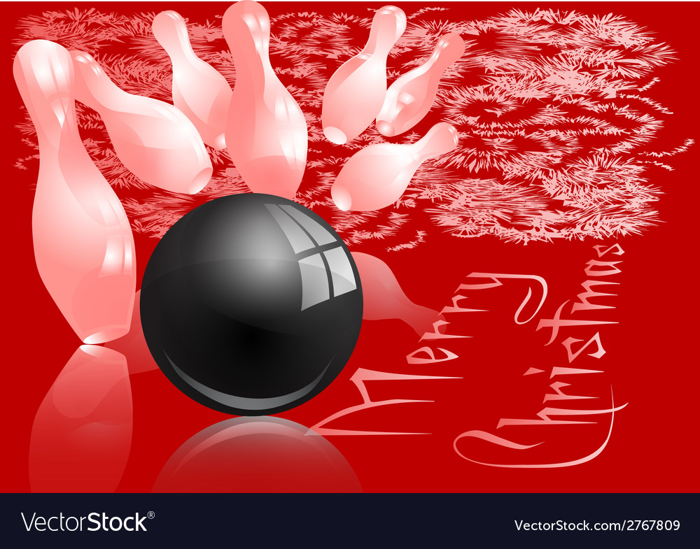 christmas bowling strike royalty free vector image
