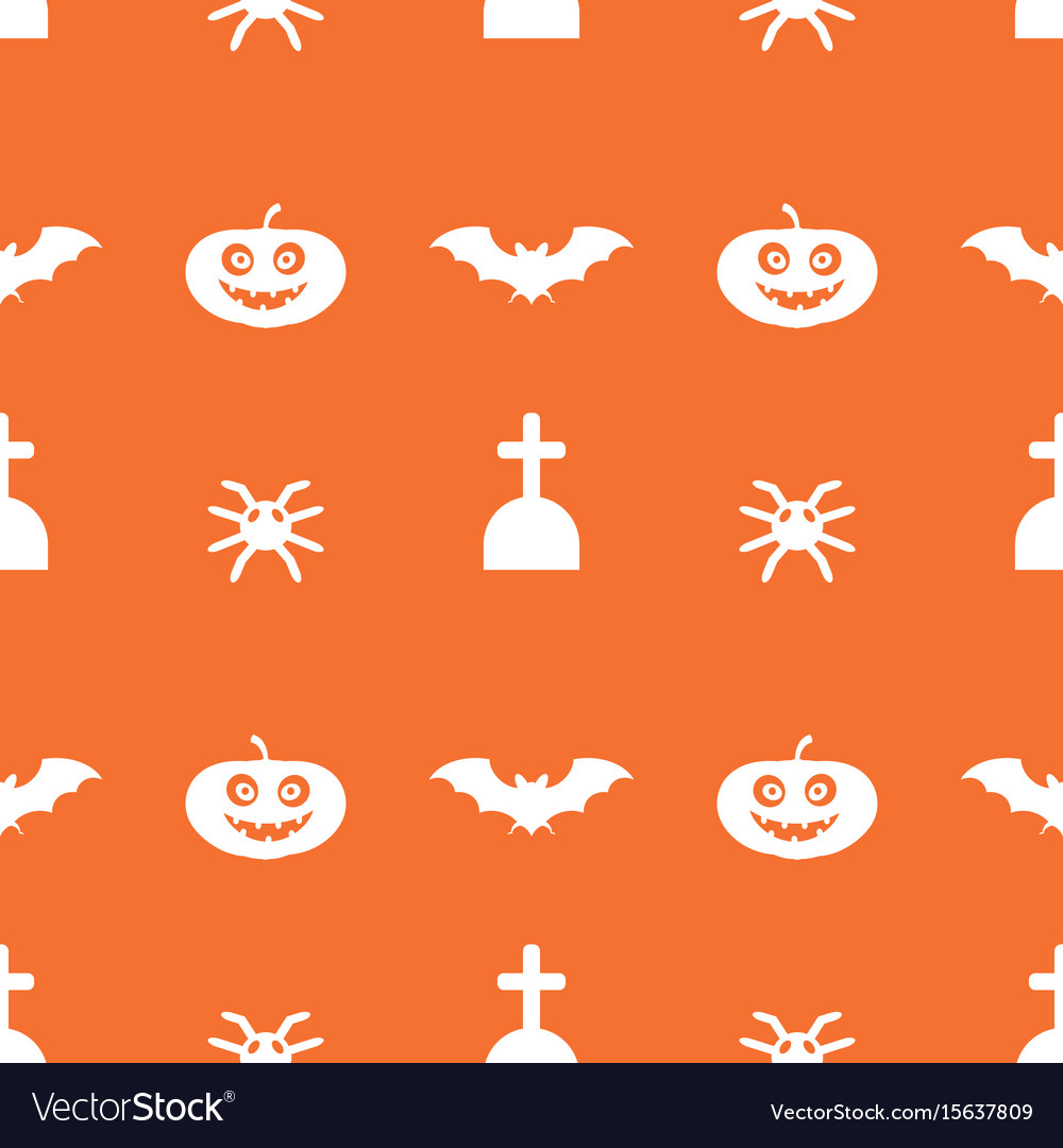 Digital orange happy halloween