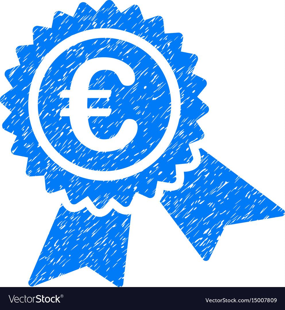 European guarantee seal grunge icon vector image