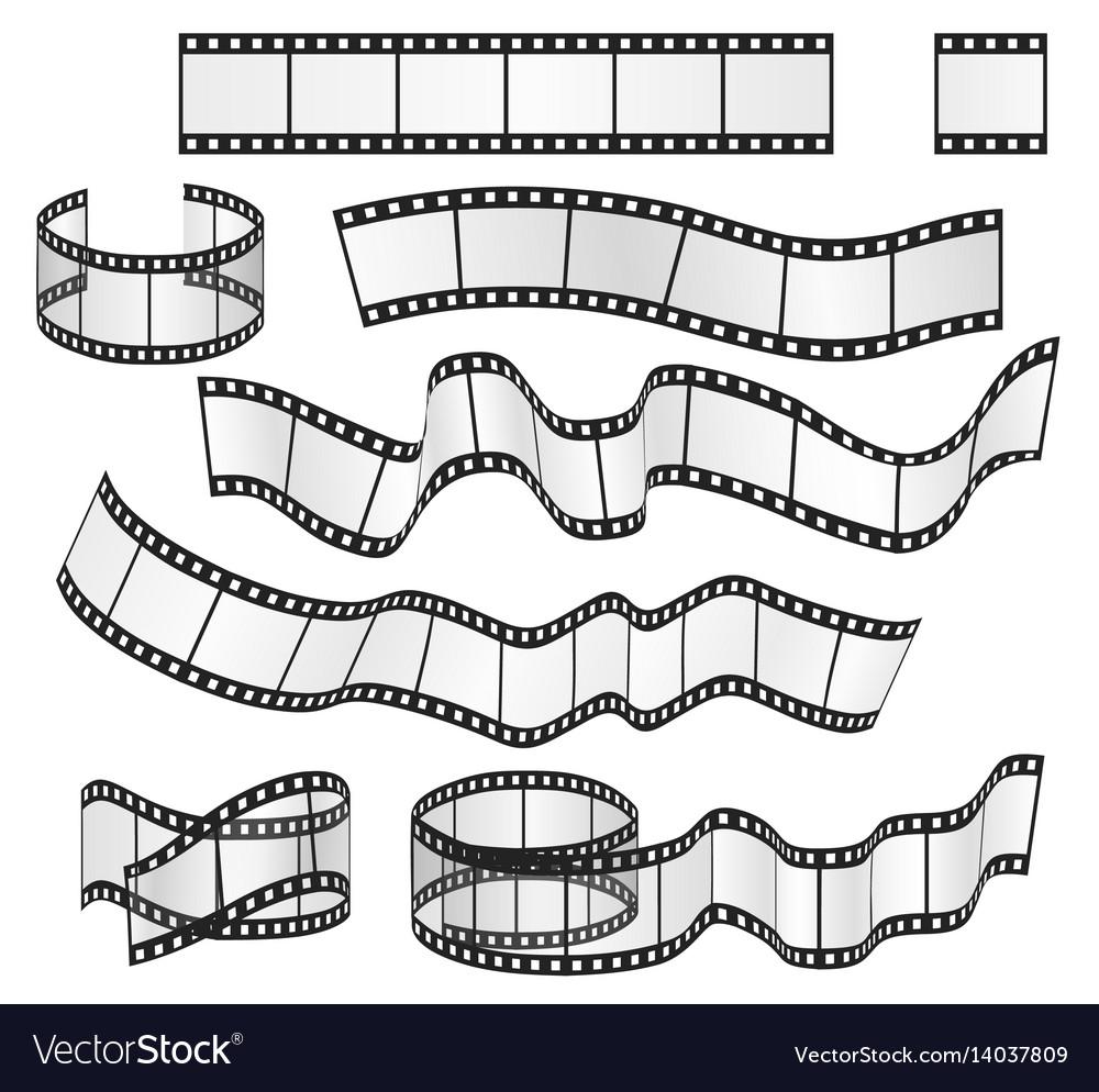 Film strip set film frames collection