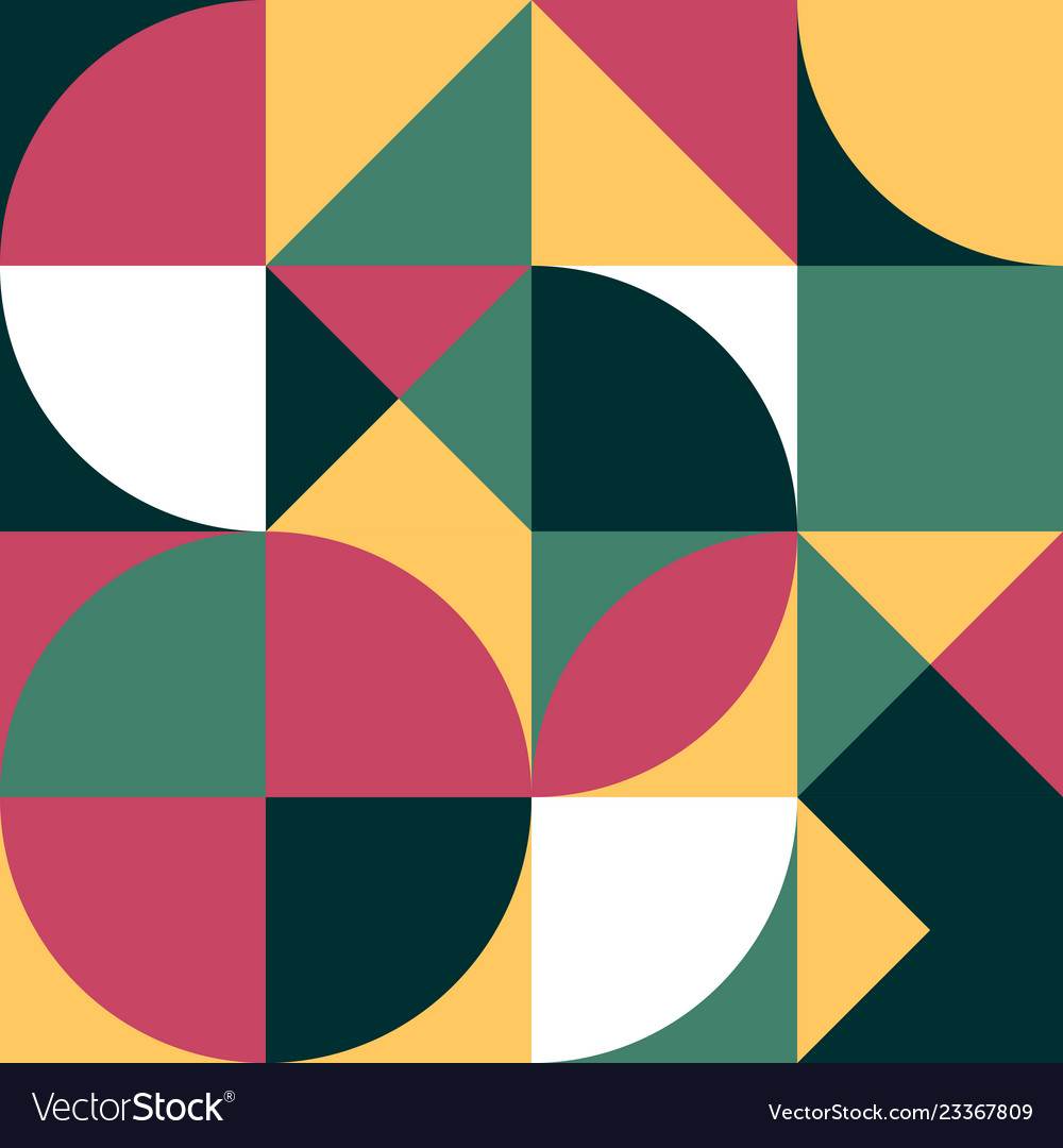 Geometric simple colored seamless pattern