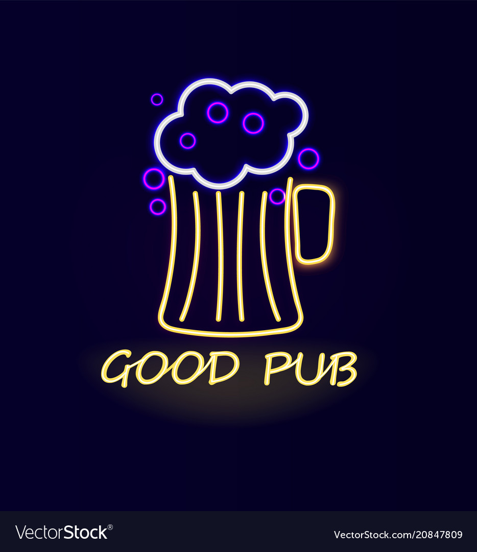 Good pub beer neon sign poster