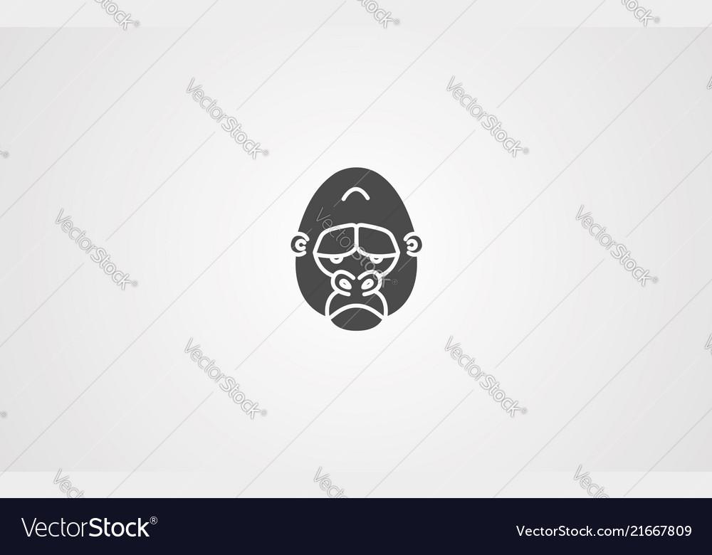 Gorilla icon sign symbol