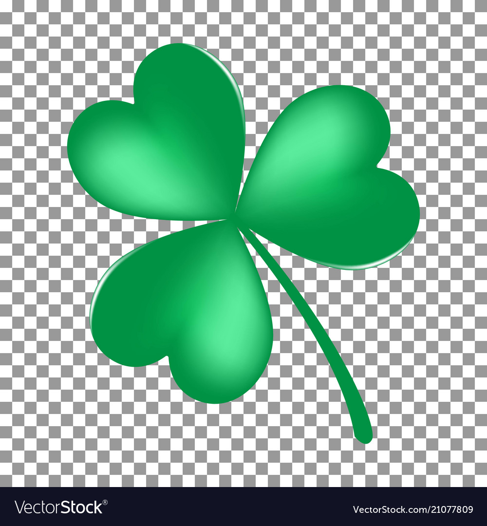Green shamrock leave icon isolated on transparent
