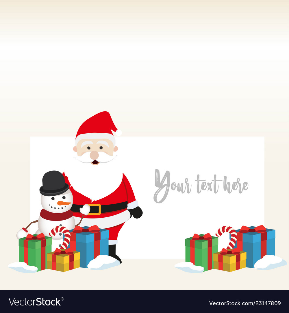Lovely christmas snowman and santa clause