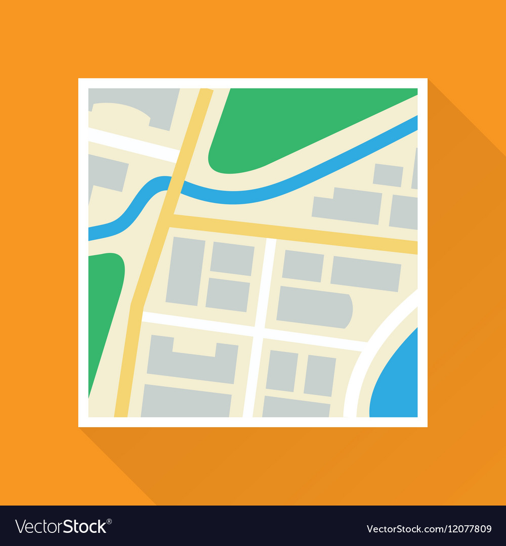 Paper Map Flat Icon