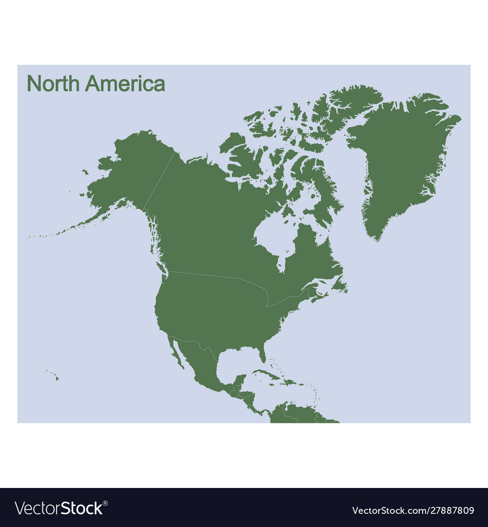Political map north america