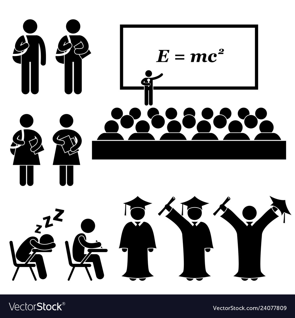 Student lecturer teacher school college