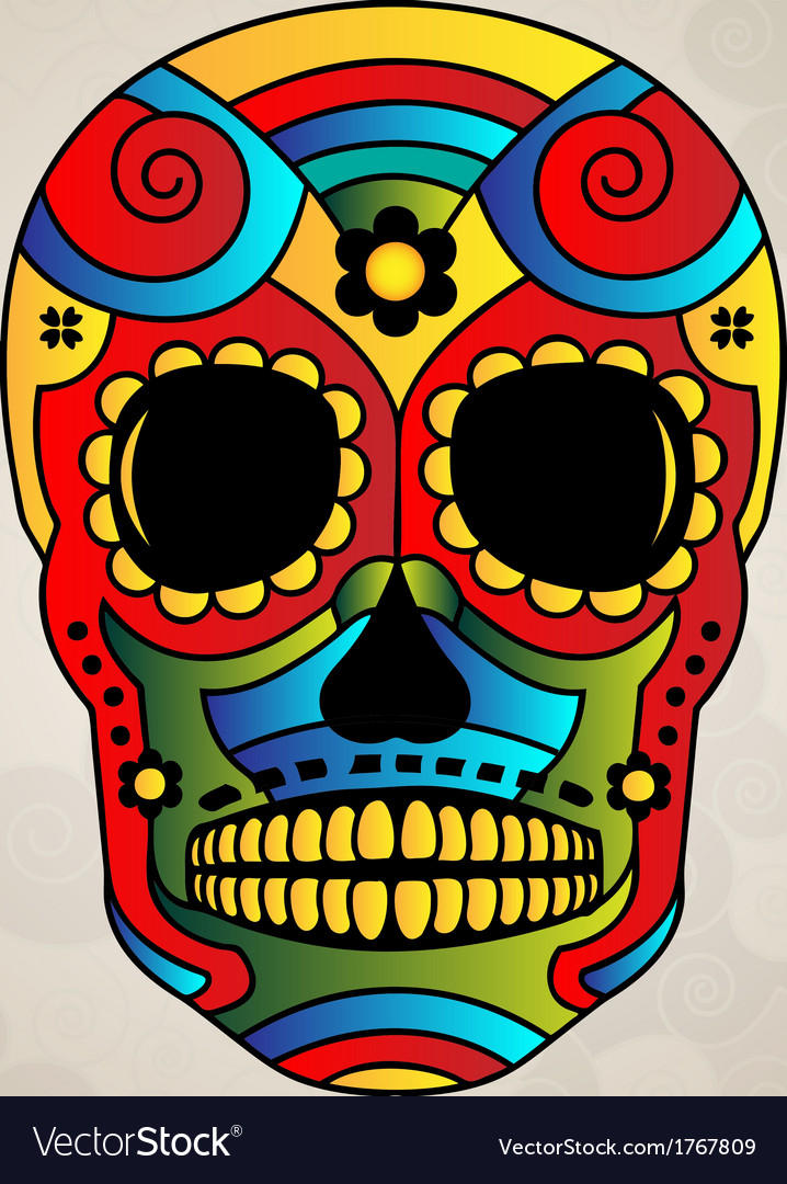 Sugar skull mexico day of dead