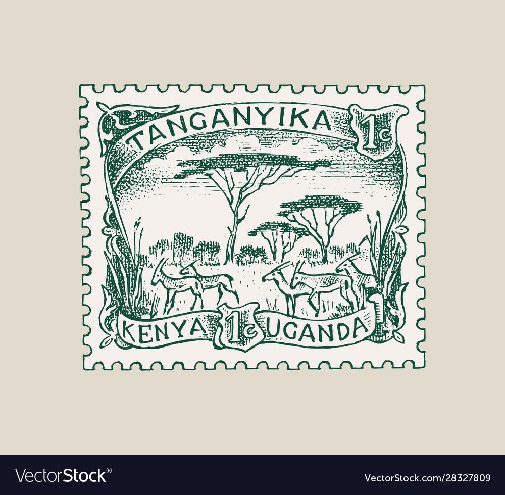 Vintage postage stamp for album ancient