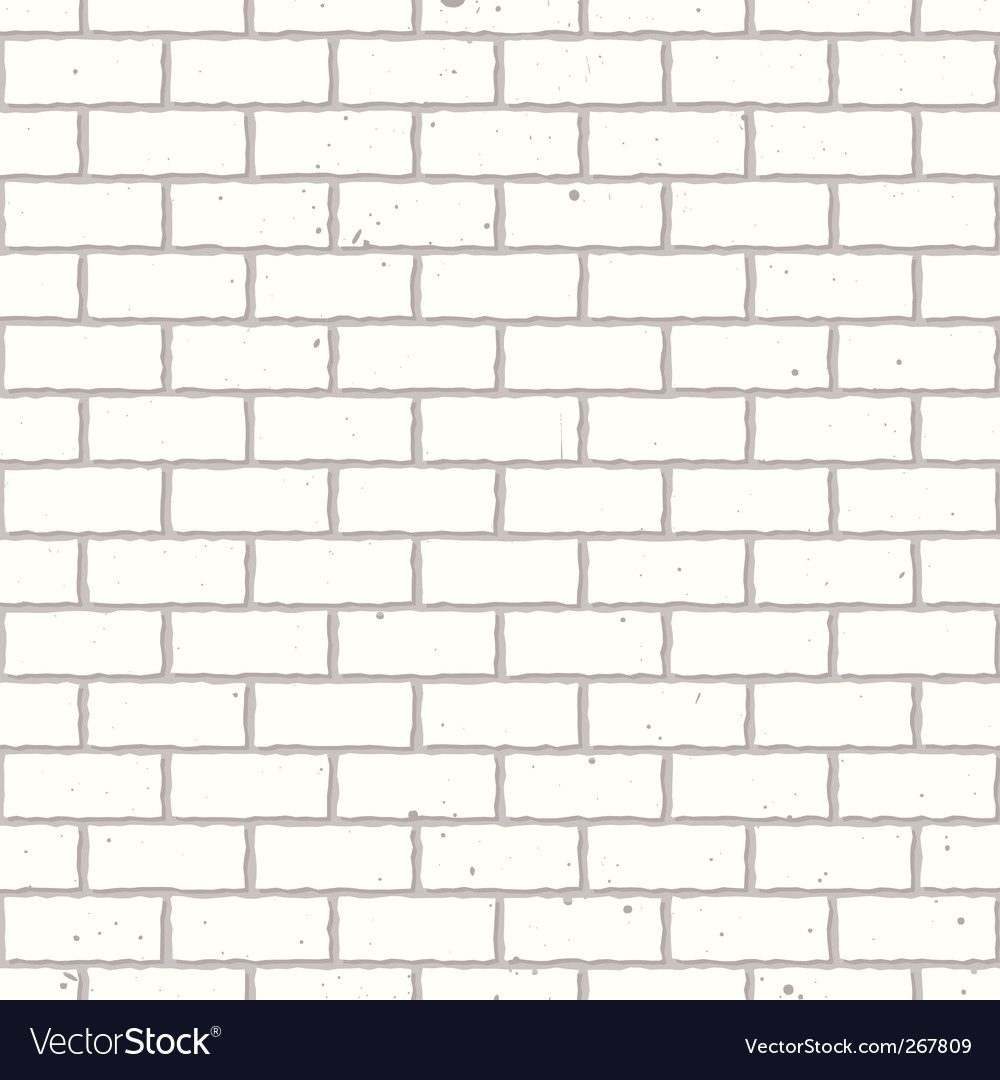 White seamless brick wall