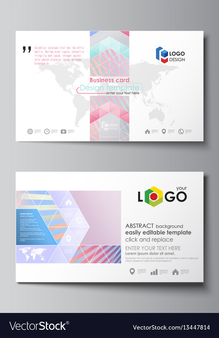 Business card templates easy editable layout vector image wajeb Images