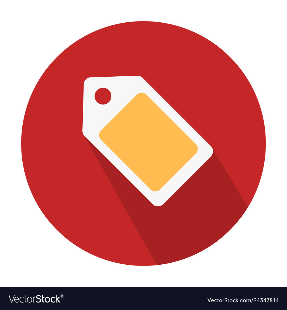 Flat icon design label tag symbol