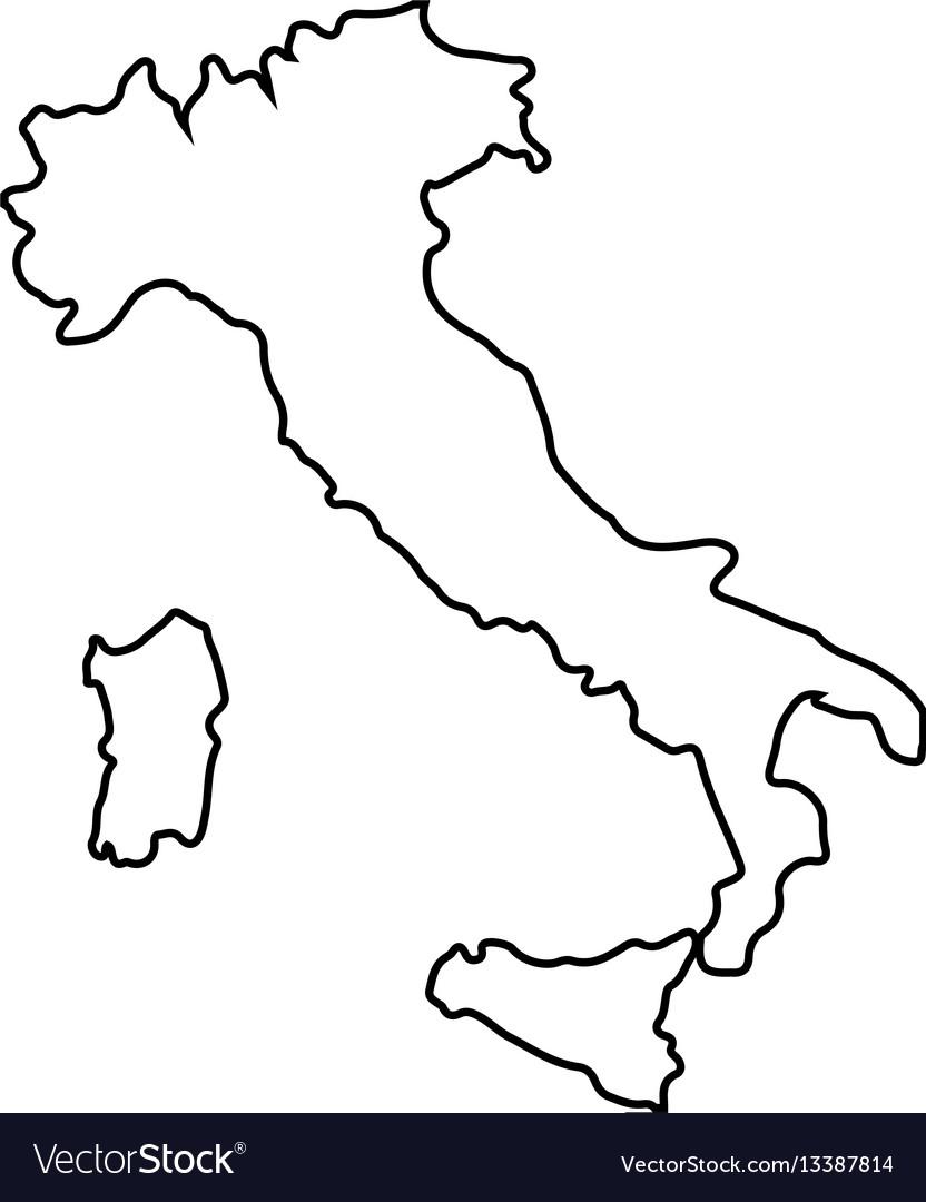 Isolated italian map