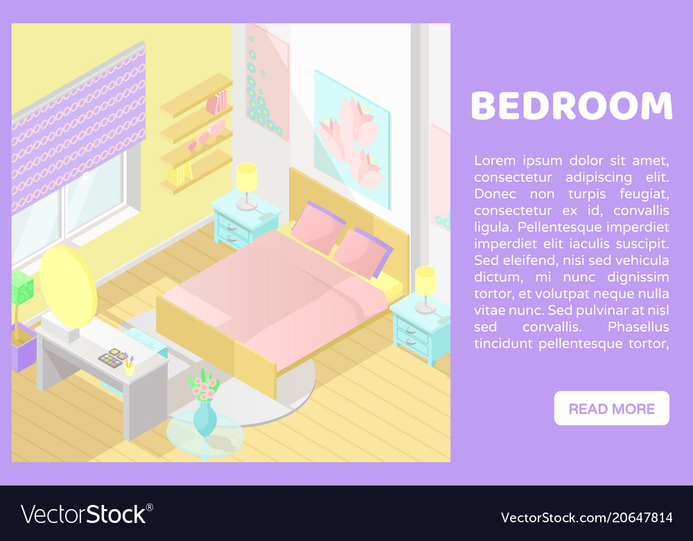 Isometric low poly cutaway interior Royalty Free Vector