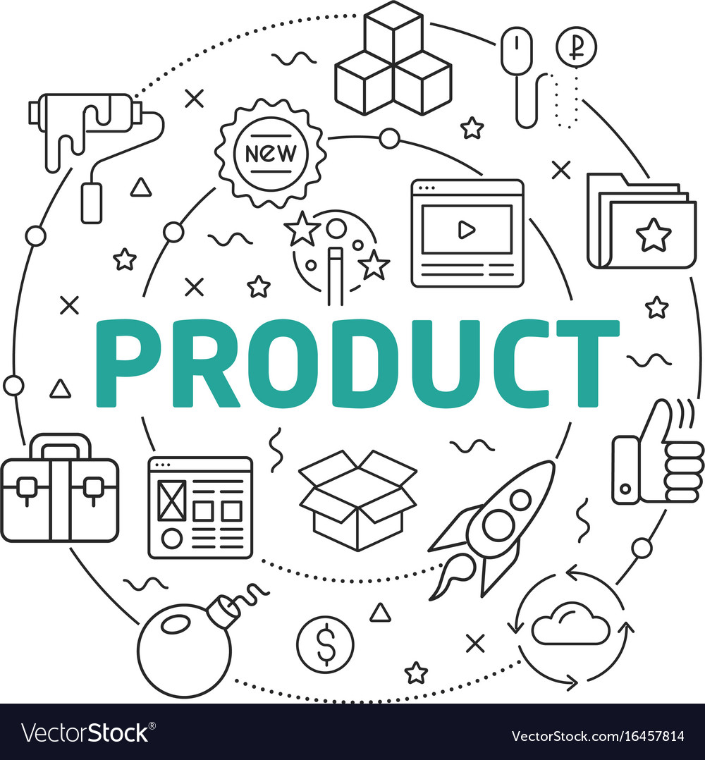 Line flat circle product