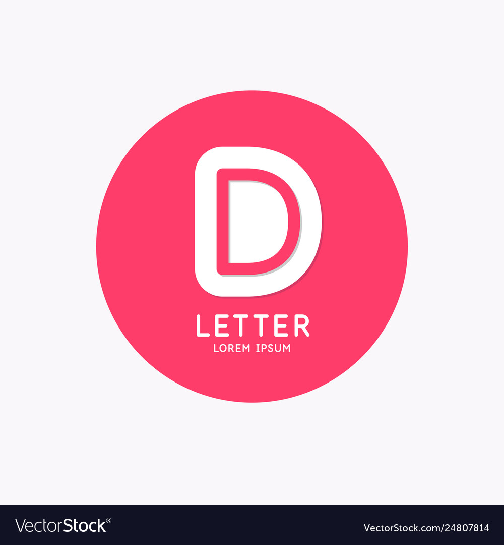 Modern linear logo and sign letter d
