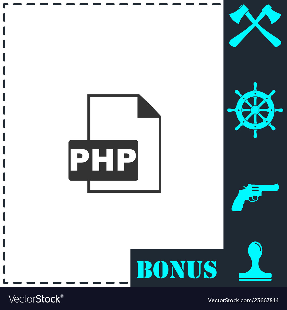 Php file icon flat