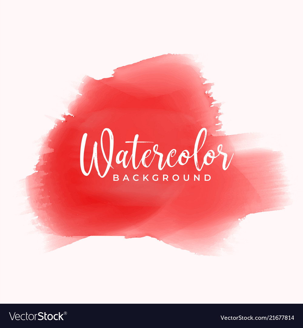 Red hand painted watercolor texture background