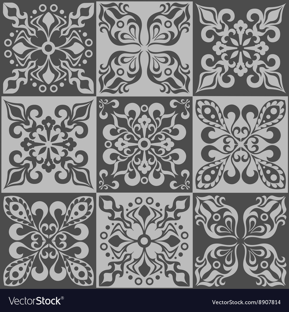 Tracery patchwork pattern Moroccan tiles ornaments